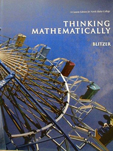 9780558324636: Thinking Mathematically a Custom Edition for North Idaho College