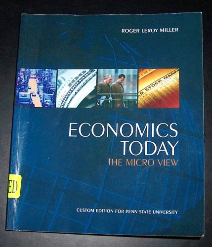 9780558336363: Economics Today The Micro View (Economics Today The Micro View Custom Edition for Penn State Univers