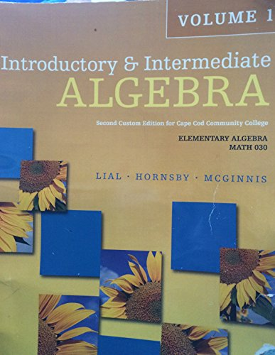 Introductory: Lial, Hornsby, McGinnis