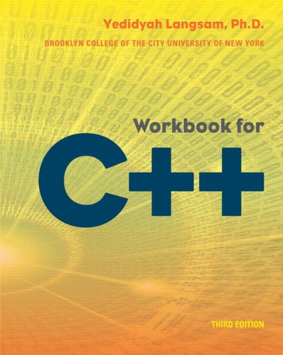 9780558347536: Workbook for C++ (3rd Edition)