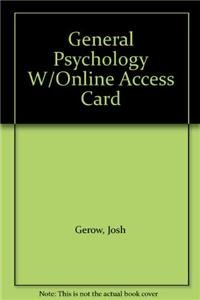 9780558348861: General Psychology W/Online Access Card