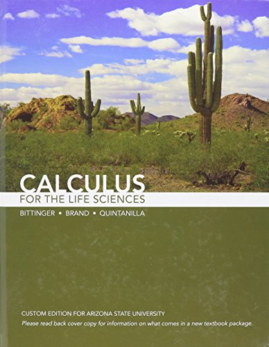 9780558371319: Calculus for the Life Sciences: Custom Edition for Arizona State University