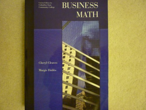 9780558381219: Business Math, Custom Edition for Columbus State Community College