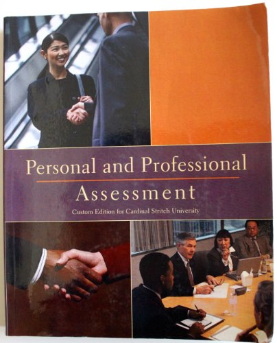 Personal and Professional Assesment: Sandra McKee, Brenda Waltess, Linda Simon, Arthur Bell, Dayle ...