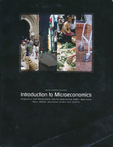 Introduction to Microeconomics, Indiana University, Economics E201,: n/a