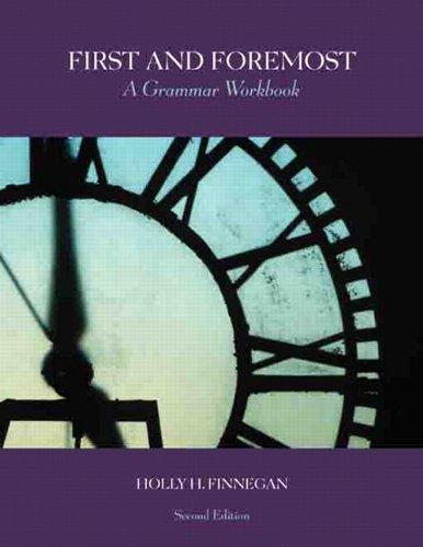 9780558387785: First and Foremost: A Grammar Workbook