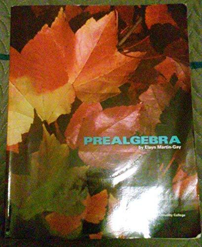 9780558402532: Prealgebra (Custom Edition for Valencia Community College)