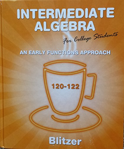 9780558442002: Intermediate Algebra for College Students (120-122, Custom Edition)
