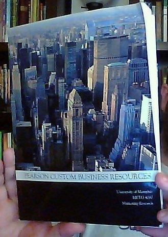 Marketing Research [MKTG 4080 - Custom Edition for the University of Memphis] Pearson Custom ...