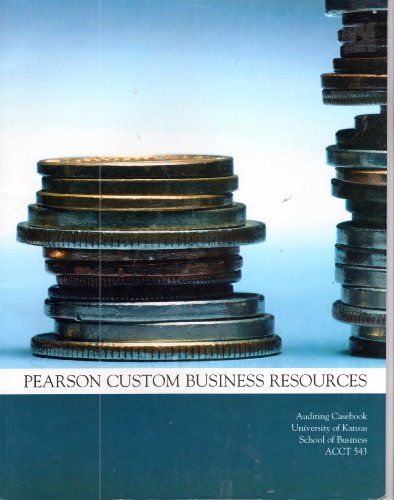 9780558455132: Auditing Casebook (Pearson Custom Business Resources for class
