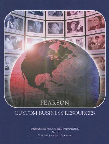Pearson Custom Business Resources: Kursh, Steven R