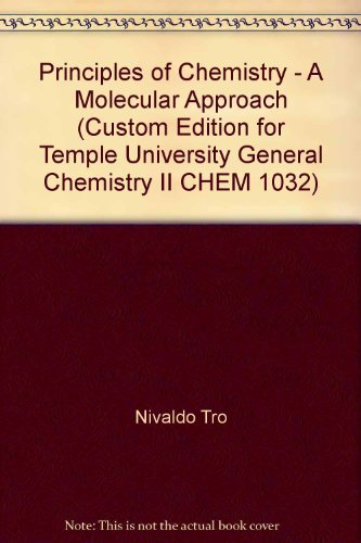 9780558495350: Principles of Chemistry - A Molecular Approach (Custom Edition for Temple University General Chemistry II CHEM 1032)