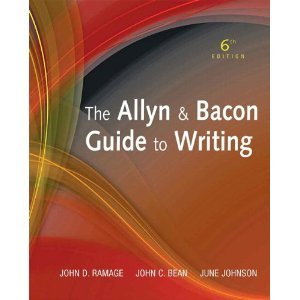 9780558511500: The Allyn & Bacon Guide to Writing