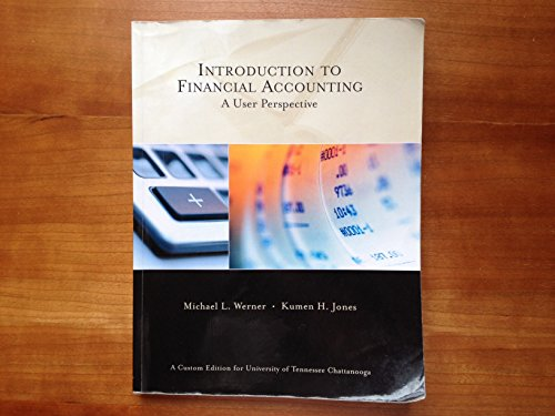 9780558516970: Introduction to Financial Accounting: A User Perspective