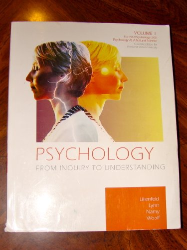 9780558548643: Psychology From Inquiry to Understanding (Volume 1 Custom Edition for Portland State University Psychology 200)