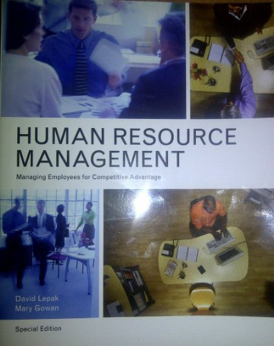 9780558557867: Human Resource Management : Managing Employees for Competitive Advantage (Human Resource Management - Special Edition)