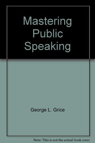 9780558565275: Mastering Public Speaking