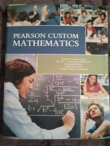 PEARSON CUSTOM MATHEMATICS >CUSTOM<