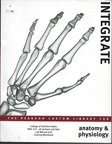 9780558628253: Integrate: The Pearson Custom Library For Anatomy & Physiology