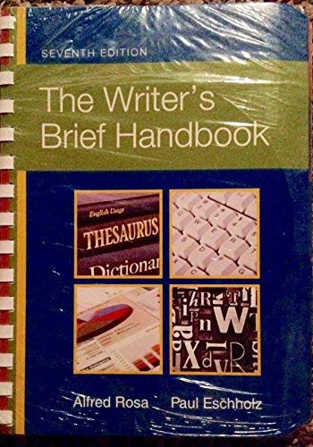 9780558653446: WRITER'S BRIEF HANDBOOK >CUSTO