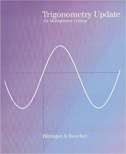 9780558675387: Trigonometry Update for Montgomery College