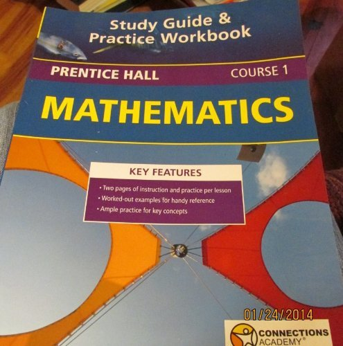 9780558678043: Prentice Hall Mathematics Study Guide & Practice Workbook, Course 1