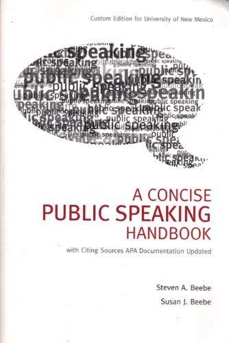 9780558689209: A Concise Public Speaking Handbook