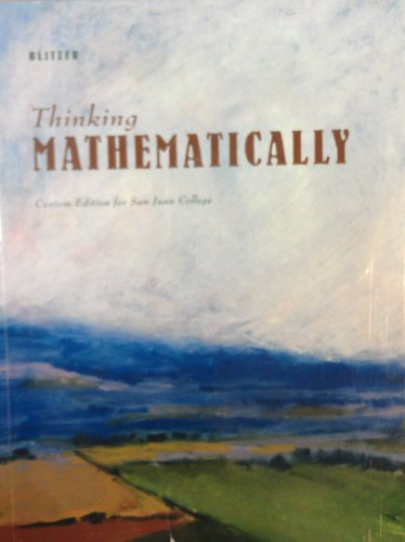 9780558696078: Thinking Mathematically Custom Edition for San Juan College