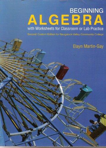 9780558696900: Beginning Algebra Second Custom Edition for Naugatuck Valley Community College