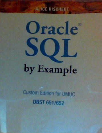 9780558699895: Oracle SQL by Example (Custom Edition for UMUC)