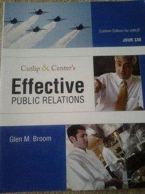 9780558700102: Cutlip & Center's Effective PUBLIC RELATIONS, Custom Edition for UMUC