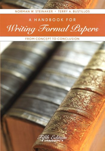 9780558713584: A Handbook for Writing Formal Papers: From Concept to Conclusion (5th Edition)