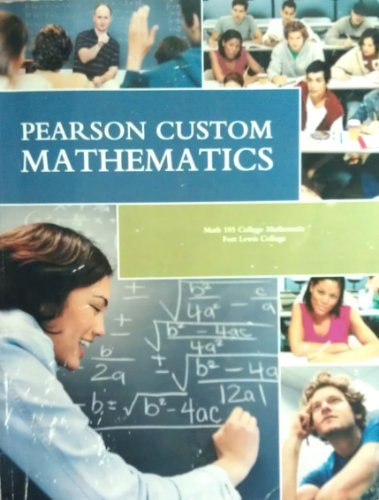 9780558725990: Pearson Custom Mathematics Math 105 Ft. Lewis College