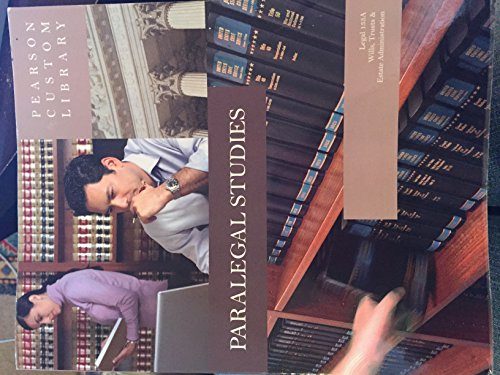 9780558728304: Paralegal Studies: Wills, Trusts, & Estate Administration