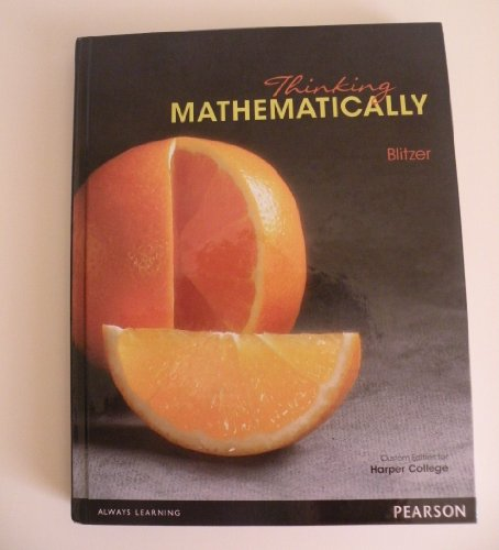 9780558738815: Thinking Mathematically (Mesa Community College Custom Edition)