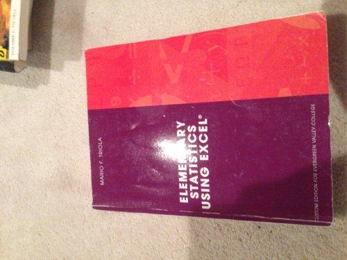 9780558745882: ESSENTIALS OF STATISTICS (Custom Edition for Evergreen Valley College)