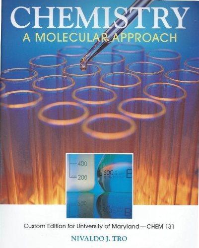 9780558746834: Chemistry: A Molecular Approach (Custom Edition for University of Maryland)