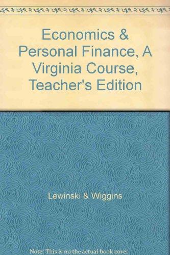 9780558759223: Economics & Personal Finance, A Virginia Course, Teacher's Edition