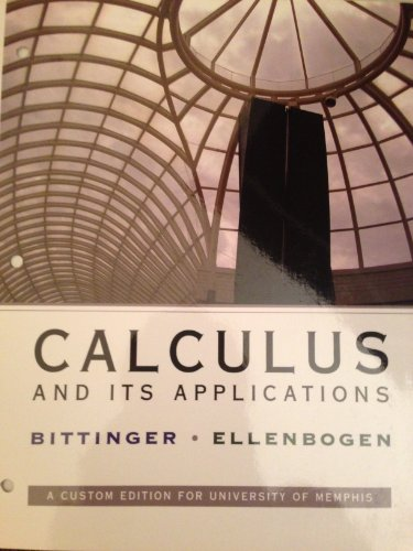 9780558767228: Calculus and Its Applications (Custom Edition for University of Memphis