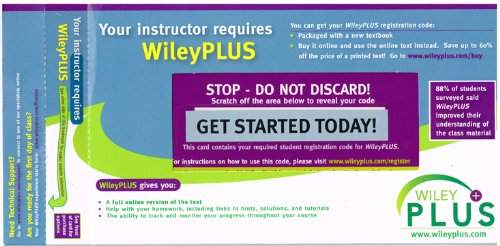 9780558805401: WileyPLUS Stand-Alone Access Code