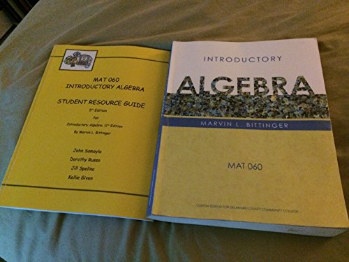Introductory Algebra: Marvin L. Bittinger
