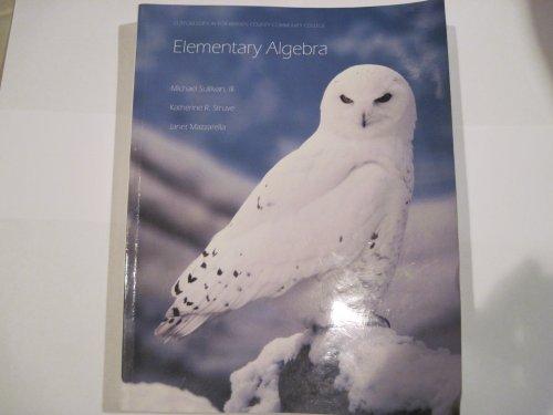 9780558822606: Elementary Algebra (Custom Edition for Bergen Community College)