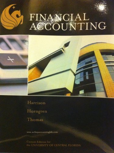 9780558823511: Financial Accounting (Custom Edition For the University of Florida)
