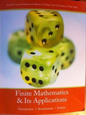 9780558826376: Finite Mathematics and Its Applications (4th Edition for Hunter College)