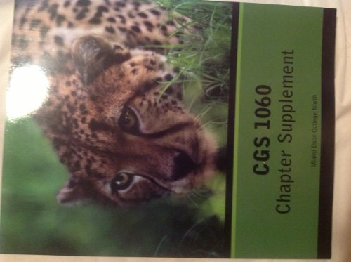 9780558826390: CGS 1060 Chapter Supplement (Miami Dade College North)