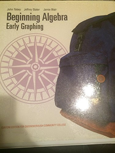 9780558834296: Beginning Algebra: Early Graphing, Second Edition (Custom Edition for Queensborough Community College)
