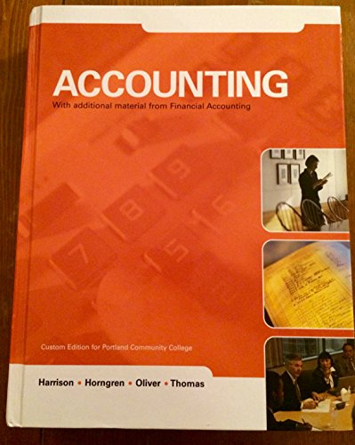 Accounting with Additional Material From Financial Accounting: Oliver,Thomas Harrison Horngren