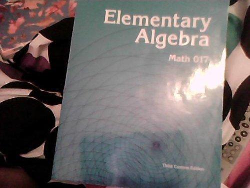 Elementary Algebra: Math 017: Marvin L. Bittinger
