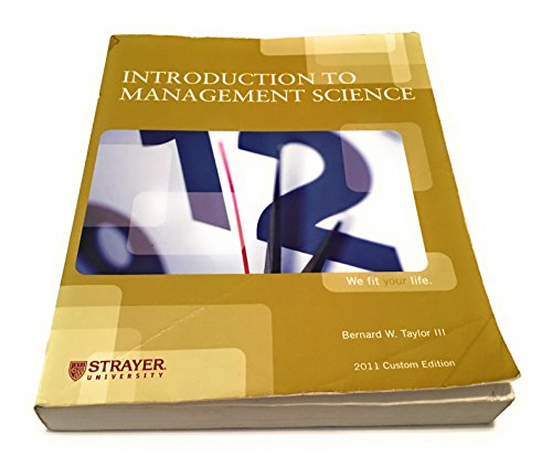 9780558865030: Introduction to Management Science (2011 Custom Edition - Strayer University)