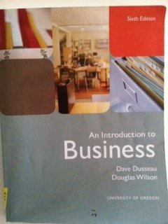 9780558867287: An Introduction to Business - Dusseau/Wilson, University of Oregon